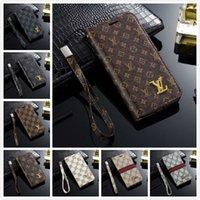 designer-handy-brieftaschen großhandel-Entwerfer iPhone XR Mappen-Kästen für iPhone X XS maximales 7 8 Samsung-Galaxie S9 S10 plus Handy-Fall S10e Note9 S8