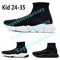 Wholesale running shoes for kids for sale - Group buy 2019 Designer Kids Knitted Socks Shoes Sports Athletic Outdoor Casual Elastic Sneakers For Boys Girls designer shoes Eur