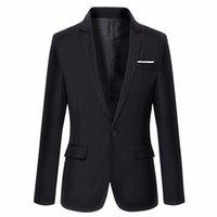 blazers para homem venda por atacado-LES 2019 Nova Chegada Roupas de Marca Jaqueta Outono Terno Homens Blazer Moda Magro Masculino Ternos Casuais Blazers Cor Sólida Dos Homens