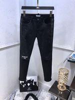 ingrosso giovani in vendita-2019 Nuovo famoso marchio super designer lungo strappato giovani jeans da uomo individualità di alta qualità confortevole jeans biker moda per gli uomini vendita calda
