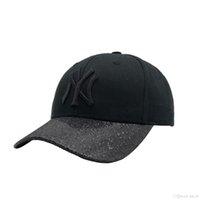 sombreros de lentejuelas negro al por mayor-NUEVO ML018 Black Sequin NY Yankees icon 1: 1 Sombrero Clásico Caja de regalo de alta calidad bordado Casquettes envío gratis
