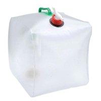 su çantası satışı toptan satış-Sıcak Satış 20L Katlanabilir Su Taşıyıcı Açık Katlanabilir Katlanır Şeffaf Içme Su Torbası Araba Konteyner
