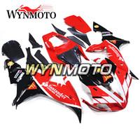 yzf r1 carenado rojo al por mayor-Carenados de motocicleta para Yamaha YZF 1000 R1 2002 2003 Red Kits Negro yzf 1000 r1 02 03 ABS Inyección de plástico carenados de motos cubiertas