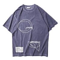 Wholesale logo online - 2019ss Best Quality Britain Fashion A COLD WALL ACW Logo Geometry Printed Women Men T shirts tees Hiphop Men Cotton T shirt