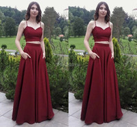Wholesale two piece evening dress for sale - Group buy Elegant Two Pieces Evening Dresses A Line Floor Length Special Occasion Dress Stylish Formal Party Prom Gown Simple Vestidos De Fiesta Cheap