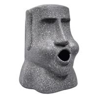 ingrosso asciugamani da bagno-Divertimento creativo Moai Resurrection Island Stone Ritratto Tissue Box Desktop Car Soggiorno Bagno in resina Asciugamano di carta scatola di immagazzinaggio Decor regalo