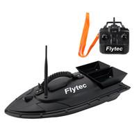 uzaktan kumandalı tekneler toptan satış-Flytec HQ2011-5 Balıkçılık Aracı Akıllı RC Yem Tekne Oyuncak Dijital Otomatik Frekans Modülasyonu Uzaktan Radyo Kontrol Cihazı Balık Oyuncaklar