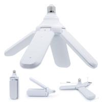 e27 scheinwerfer großhandel-110-265V E27 LED Birne Faltbare Lüfterflügel Birne 30W 45W 60W LED Lampe Super Bright White 6500K für Indoor Home Deckenleuchte