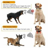 Wholesale barking collars for dogs resale online - Anti Bark Training Collar for Dog Waterproof No Electric Dog Barking Shock Stop Digital Device Display Training Dog Pet Supplies