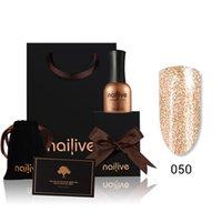 neuer nagelglanz großhandel-Neue Gelike Nail Art 15 ML Nail Art Supper Diamant Glänzende Glitter Pailletten Sternenplatin Serie Nagellack Kit