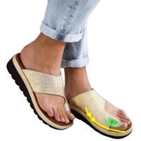 Oeak Fashion Women Slippers Flat Sole Casual Soft Big Toe Foot Sandal Women Shoes Comfy Platform Orthopedic Bunion Corrector LY191129