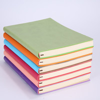 Wholesale cute notepads resale online - High Quality A5 Simple Classic Solid Journal Notebooks Daily Schedule Memo Sketchbook Home School Office Notepads Supplies Gifts Color