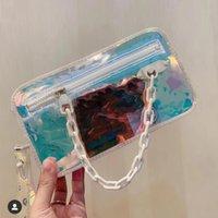 bolsas de arco-íris venda por atacado-Homens de alta Qualidade Designer Sacos de corpo Cruz Laser Flash PVC Bolsa Moda Rainbow Transparente Sacos Sacos de Ombro Carteira Pequena Bolsa Sacola