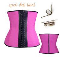 Wholesale steel boned corset sale resale online - HOT SALE S Shaper Latex Waist Cincher Steel Boned Waist Trainer Corset Underwear Slimming Body Shape Wear Modeling Strap Tummy Control CZ150