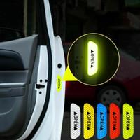 mor karbon fiber sarar toptan satış-Etiket 4 Adet Uyarı Evrensel Oto Araba Kapı Açık Sticker Yansıtıcı Bant Emniyet