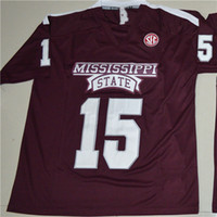 fußball-jerseys der frauen gewohnheit groihandel-Benutzerdefinierte Mississippi State Bulldogs 15 Dak Prescott Mens Womens Kids College Football Trikots Stickerei Outdoor Bekleidung Trikots
