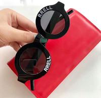 eski beyaz kutu toptan satış-Siyah Beyaz Yuvarlak Sungalsses Vintage Güneş gözlükleri Daire unisex Moda 2019 tasarımcı güneş gözlüğü Yeni wth Kutusu