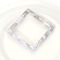 20Pcs 30MM Acetate Square Shape DIY Earrings Pendants Pendulum Ornaments Acetic Acid Fresh Powder For Jewelry Making Accessories