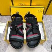 ремень для мужчин оптовых-мужские шлепанцы дизайнерские сандалии дизайнерские туфли дизайнерские туфли мужские ремешок причинно-следственная с размером коробки 38-45