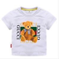vieux vêtements pour garçons achat en gros de-2019 Nouveau Designer Marque 2-8T Ans Bébés Garçons Filles T-shirts Eté Chemise Tops Enfants Tees Enfants shirts