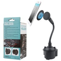 Wholesale universal gooseneck phone holder online – Car Cup Phone Holder Stand Magnetic adsorption Car Holders Adjustable Gooseneck Cup Holders Cradle Car Mount Compatible for iPhone Galaxy