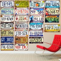 Wholesale car club tin signs for sale - Group buy New Retro Colorado Car License Plate Number GT Metal Poster Bar Cafe Club Garage House Wall Decor Minnesota Arizona Tin Signs