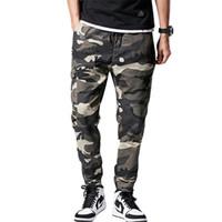 ingrosso pantaloni di cotone baggy per gli uomini-Moda Uomo Pantaloni cargo militare multi-tasche Baggy tuta mimetica uomini grande e grosso di cotone 8XL Pantalone elastico in vita Streetwear Pant