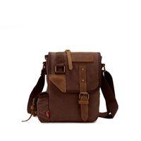 pequeños bolsos masculinos al por mayor-Nuevo 2019 New Classic Small Men Messenger Bags Militares Bolsos de Lona Bolsos de Viaje Hombro Crossbody Bolsas Para Hombre Bolsas An1125