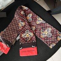 ingrosso sciarpe multiuso-nuovo negozio introduce piccole sciarpe foulard alla moda multi-purpose sciarpa borsa alla moda nastro di seta di alta qualità 120 * 8cm