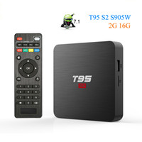 Wholesale t95 android box 2gb for sale - Group buy T95 S2 TV BOX Android OS Smart TV Box GB GB Amlogic S905W Quad Core GHz WiFi Set Top Box Media Player