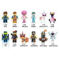Wholesale figure kitty for sale - Group buy Building Blocks Big Movie Bricks Emmet Melody Tempo Zebe Rex Warrior Kitty Lucy Figures For Children Collection Toys L163 L174
