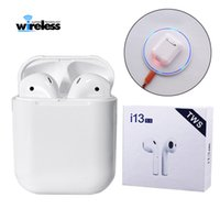 Wholesale i13 tws wireless bluetooth headphones stereo bluetooth double call with charger box vs I10 I12 Tws