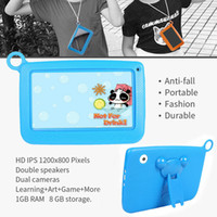 Wholesale android 4.4 hd tablet for sale - Group buy New Arrival Inch Kids Tablet PC Quad Core GB GB ROM WiFi Android HD Dual Camera With Silicone Case