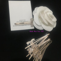 horquillas de oro rosa al por mayor-Lujo brillante rhinestone horquilla rosa oro color C símbolo pinza de pelo clásico bobby pin accesorios para el cabello regalo del partido para VIP