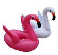 tubo de agua para niños al por mayor-Anillo inflable de natación colchón bebé deportes acuáticos flotante flamenco cisne pavo real asiento anillos flotadores agua piscina tubos juguete de playa para niños