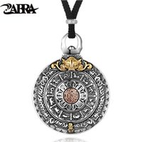 Wholesale necklace religion for sale - Group buy ZABRA Religion Authentic Sterling Silver Round Necklace Pendant Men Chinese Zodiac Signs Vintage Pendants Jewelry For Male