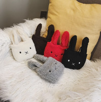 Wholesale bunny shoulder bag resale online - Fashion Kids Cartoon Mini Bags INS Cute Bunny Ear All match Single shoulder Bags Animal Change Purse Children Rabbit Messenger Bag C5765