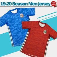 equipos de fútbol azul rojo al por mayor-2020 México Portero camisetas de fútbol rojas 19/20 equipo nacional portero azul camisetas de fútbol Hombres uniformes de fútbol en oferta