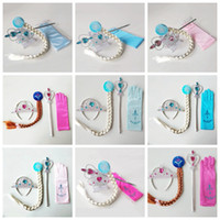 Wholesale kids princess gloves resale online - Princess Crown Magic Wand Gloves Wig Halloween Cosplay Kids Children Ice Girls Cosplay Jewelry Sets Styles HHA480