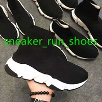chaussures à lacets brodés chinois achat en gros de-2020 Luxe Slip-on Designer Casual chaussettes Chaussures Speed Triple Rouge Noir Entraîneur Noir Mode Chaussettes espadrille Chaussures de sport