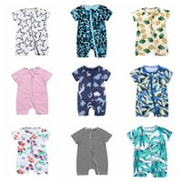 Wholesale infant tutu jumpers for sale - Group buy 34 styles INS new summer forest leaves infant cotton baby newborn print jumpers toddler jumpersuit kids child lovely jumpers