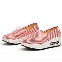встряхнуть обувь кроссовки оптовых-AIKE Азия новая женская обувь повседневная мода кроссовки трясти обувь весна лето осень мокасины женские холст клинья одиночные