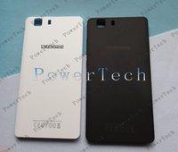 célula de bateria de volta venda por atacado-Branco / Preto Original Tampa Tampa de Bateria Voltar habitação para X5 Doogee 5inch, X5 Pro celular