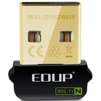 wifi anteni oluştur toptan satış-EDUP usb wifi adaptörü 150 Mbps sürücü ücretsiz ahududu pi için dahili anten usb ethernet adaptörü için wifi alıcı PC