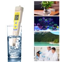 ingrosso tipi di test idrici-PH Meter Digital PH Test Tipo di penna Termometro Rilevatore di qualità dell'acqua Metri per acquari Piscina Idroponica da laboratorio