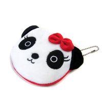 ingrosso panda borsa della moneta carina-Carino Caroon Panda Coin Purse 10cm Morbido peluche Portafoglio di carta animale per regalo Prezzo all'ingrosso di alta qualità
