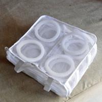 mit bh großhandel-1 stücke Nylon Empfindliche Wäschesack Bequem Bh Dessous Waschen Wäsche Schuhe Taschen Mit Kleidung Waschen Net SpeicherorganizerHK0065