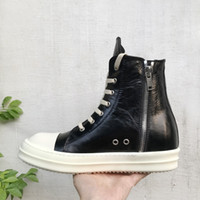 Fashion horsehide wrinkles grow high-top lace heavy-bottomed platform shoes TPU new list genuine leather high boots