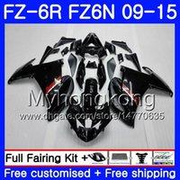 yamaha fz6r için fairing toptan satış-YAMAHA FZ6N FZ6 R FZ 6N FZ6R için gövde 09 10 11 12 13 14 15 239HM.1 FZ-6R FZ 6R Parlak siyah SICAK 2009 2010 2011 2012 2013 2014 2015 Fuarı