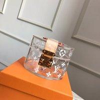 bolsa de impresión transparente al por mayor-Nueva mejor carta de la calidad del cuero genuino de hacer caja transparente super gran lujo impresión de la manera de la capacidad de PVC bolsa GI0203